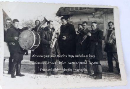 5. Olchowiec 5,05,1964r. Wesele u Stopy Ludwika od lewej